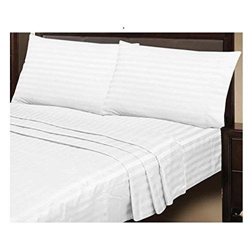 sheet-sets-double-size-1000tc-egyptian-cotton-white-stripe-4pcs-1-fitted-sheet-1-flat-sheet-and-2-pi