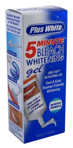 PLUS+WHITE 5-MINUTE BLEACH WHITENING GEL 3oz IMPROVED 89 ml