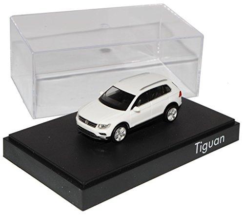 VW-Volkswagen-Tiguan-II-Pure-Weiss-2-Generation-Ab-2015-H0-187-Herpa-Modell-Auto-mit-individiuellem-Wunschkennzeichen