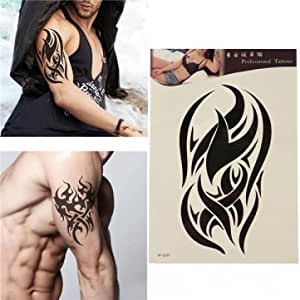 Fission Temporary Tattoo Totem Body Art Sticker Waterproof Removable Transfer Tattoos