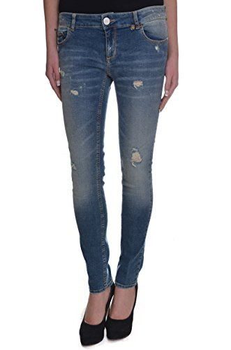 <p>TWIN-SET Jeans sabbiato con strappi, J2S41T 100 denim medio, skinny fit</p>