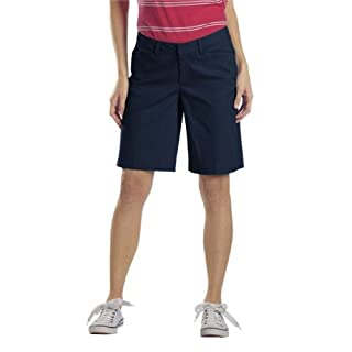 Dickies Women's 10 Inch Relaxed Stretch Twill Short, Navy, 10
