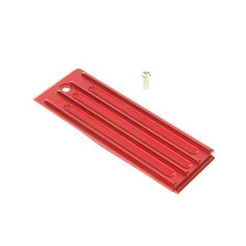 GPM Racing Alloy Battery Box Bottom Shelf for 1:10 Traxxas Revo 3.3, Red