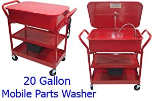 20 Gallon Mobile Parts Washer Cart by Generic