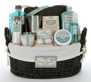 Valentines Day Gift Idea for Her - Blue Ocean Mist Bath and Body Spa Gift Basket for Women