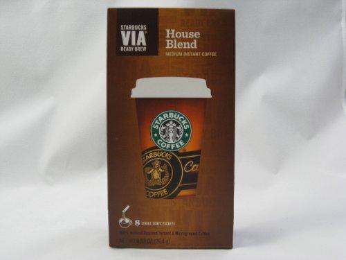 STARBUCKS VIA READY BREW HOUSE BLEND MEDIUM INSTANT COFFEE (House Blend Via compare prices)