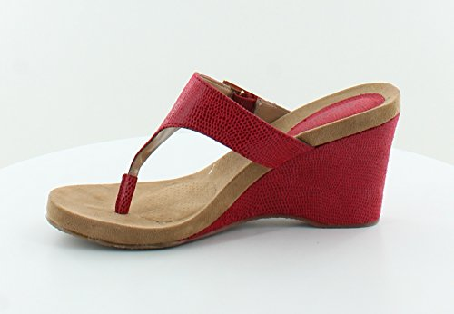 9a7732ab718 Style   Co. Women s Chicklet Platform Wedge Thong Sandals in Red ...