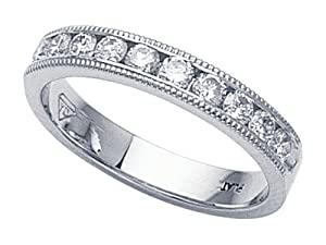Karina B (tm) Round Diamonds Band in Platinum 950 Size 5.5