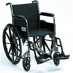 Stylish Silver Sport Self - Propelled Wheelchair - 18