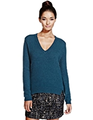 Limited Edition Oblong Fluffy Knitted Top with Angora