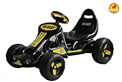Baybee Trackster Battery Operated GoKart Racing Car (Black)