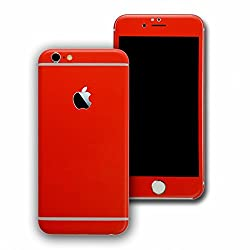 Exclusive Full Body Red Color Carbon Fiber Vinyl Mobile Skin Sticker For Apple IPhone 6