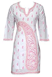 ADA Lucknow Chikan Embroidery Designer Classic Dress Top Kurti Kurta A27802