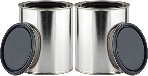 Relica - Metal Quart Paint Containers - Set of 2 (2 Metal Quart Cans) (Quart Cans compare prices)