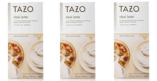 Tazo Chai Tea Latte Concentrate (32 Oz, 1 Quart) - Pack Of 3 front-276937