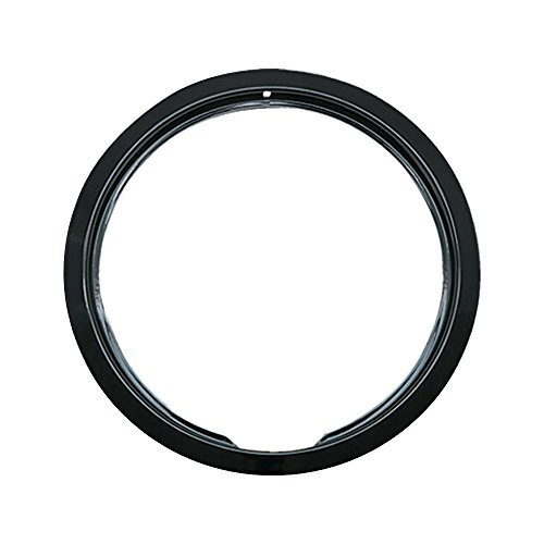 "Range Kleen Trim Ring Porcelain / Black Small / 6"", Single Pack"