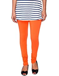 Nitya Fashion Women Cotton Legging (Color: Orange, Size: Free Size)