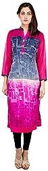 Sneharsh Women's Linen Kurti(SK114 _ 42, Multicolour, 42)