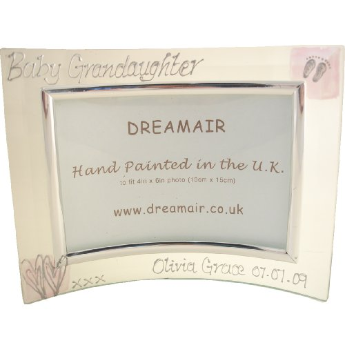 PERSONALISED Baby Granddaughter Gift Photo Frame (L) MAXIMUM 25 CHARACTERS