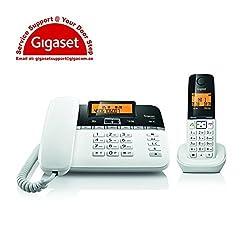 Gigaset C330 Black white Corded & Cordless Combo Landline Phone