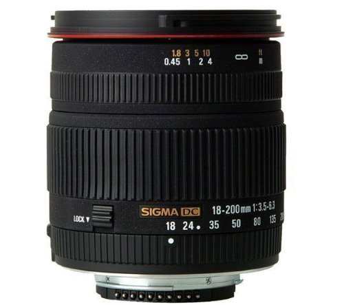 Sigma discount duty free Sigma 18-200mm f/3.5-6.3 DC Lens for Nikon Digital SLR Cameras