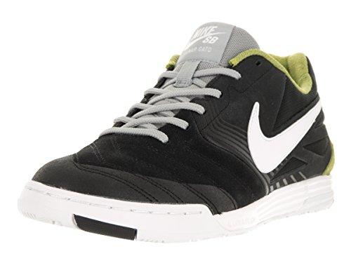 Nike Men's SB Lunar Gato Black/White Venom Green Bs Gry Skate Shoe 9.5 Men US