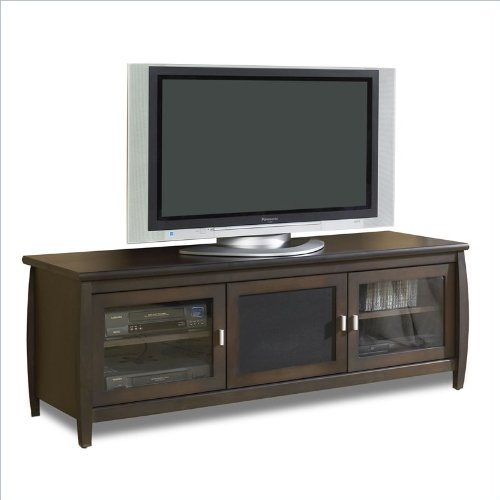 TechCraft SWP60 60-Inch Wide Flat Panel TV Credenza - Walnut