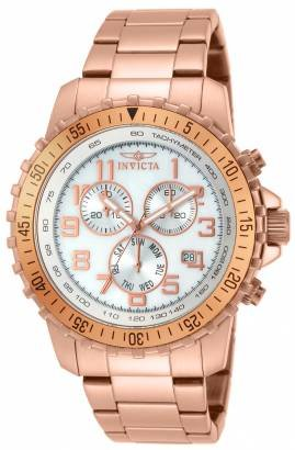 Invicta Specialty 14847 Rose Gold Plated Men's Chronograph Quartz Watch with ...