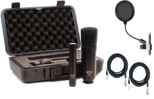 440/441 Bundle: (440 Large Diaphragm Mic/441 Instrument Mic) W/Pop Filter And 2 Xlr Cables