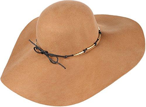 Sakkas 16154 - Liuliu larga Vintage Style Cappello floscio estraibile intercambiabile Bow Ribbon - Beige - OS