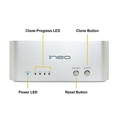 Ineo I-NA321UPLUS USB 3.0 to SATA III Hard Drive Docking Station for 2.5-inch and 3.5-inch HDD and SSD Up To 4TB