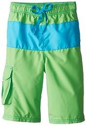 Kanu Surf Big Boys\' Legacy Swim Trunks, Green, Medium (10/12)