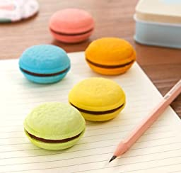 Minkle Macarons eraser kids study tools adults office supplies (5 pcs)
