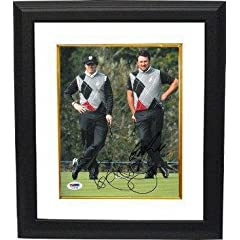 Buy Graeme McDowell signed 8x10 Photo Custom Framed Ryder Cup w  Rory McIlroy- PSA Hologram -... by Sports Memorabilia