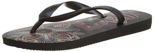 Havaianas - Spring, Sandalo da donna, colore nero (black/dark grey 4057), taglia 39/40 EU (Taglia Produttore : 37/38 BR)