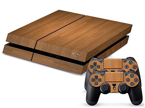 Set di adesivi decorativi per PlayStation 4 (Console + 2 Joypad) - Wood I