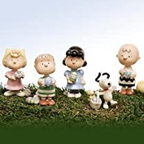 Lenox Its the Easter Beagle Charlie Brown 5-piece Sculpture
