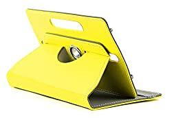 DOMO nCase B9 Smart Cover Carry Case For 7 inch Tablet PC With 360 Degree Rotation Tablet Stand And Camera Holes - Yellow