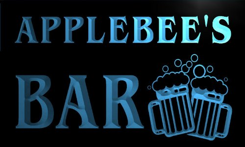 w018883-b-applebees-nom-accueil-bar-pub-beer-mugs-cheers-neon-sign-biere-enseigne-lumineuse
