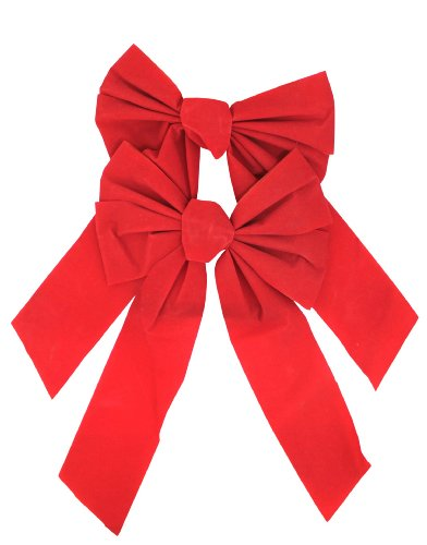 Red Velvet Bow 9-Inch By 16-Inch 2-Pack