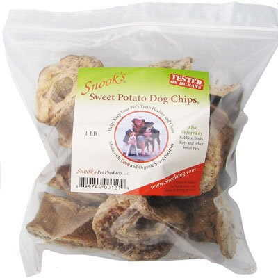 Organic Dog Treats - Organic Sweet Potato Dog Chips - 1 lb bag - Made in USA