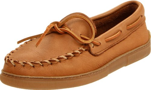 Minnetonka Men's Moosehide Classic Moccasin,Natural,9.5 M US