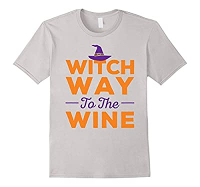 'Witch Way to the Wine' Funny Halloween Party Costume Shirt