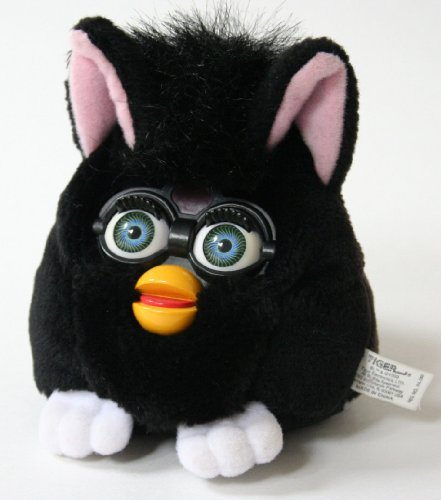 "Furby Buddies ""Good Pet"" Black Bean Bag 5"" Plush - 1"