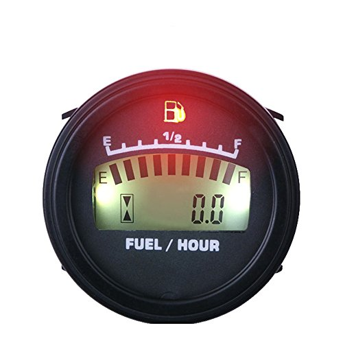 Runleader FM001 LCD Fuel Level Gauge DC powered For Motorcycle Jet Ski Marine pit bike motorbike Generator Engine (Digital Fuel Level Gauge compare prices)