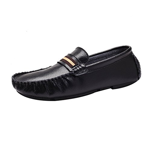 Wild Wind Mens Genuine Leather Classic Fashion Slip On Loafers Driving Boat Shoes