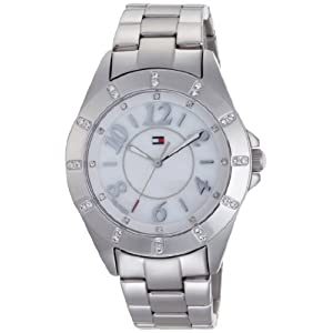 Tommy Hilfiger Women's 1781027 Stainless Steel Bracelet with Crystal Dial Markers Watch