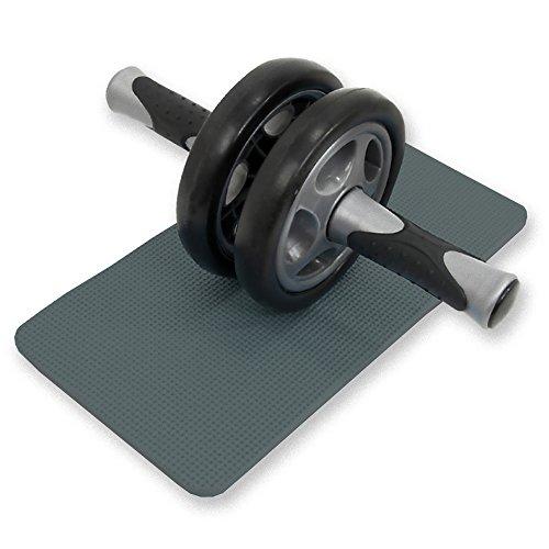DABADA(ダバダ) 腹筋 ローラー 腹筋トレーニング エクササイズローラー サポートマット付き (ブラック)