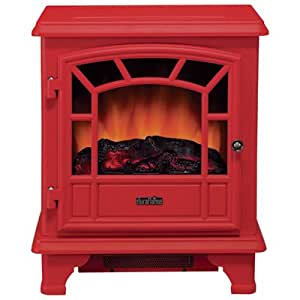 Duraflame Red Electric Stove - 4600 BTU, 1350 Watts, Model# DFS-550RED