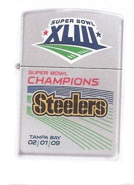 Pittsburgh Steelers Super Bowl XLIII Champions Commemorative Zippo Lighter